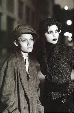 - harper's bazaar; 11/1993 -- amber valletta + nadja auermann / photographer: peter lindbergh.