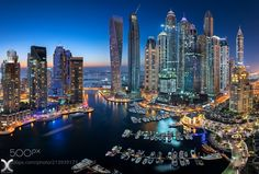 Dubai Marina - Join my Skype Workshop to learn my complete Digital Blending workflow! Dubai Marina. Panorama shot with the Nikkor 19mm Tilt Shift. Follow me on Facebook | Instagram
