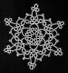 Snowflake Doily Tatting Pattern//excellent tutorials for stitches on this site