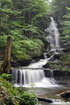 Ricketts Glen State Park, PA Beautiful Waterfalls, Beautiful Landscapes, Landscape Photography, Nature Photography, Scenic Photography, Night Photography, Landscape Photos, Photography Tips, Places To Travel