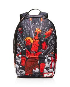 Sprayground Boys' Deadpool Throne Backpack
