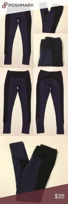 "[Mondetta] athletic legging pants S [Mondetta] athletic legging pants S •🆕listing •good pre-owned condition •black and blue/purple design pattern •length/inseam 29"" •2 side hip pockets (perfect for phone/credit card/ID) •material 86% polyester 12% spandex •cracking to logo on back of left leg •offers and bundles welcomed using the features• Mondetta Pants"
