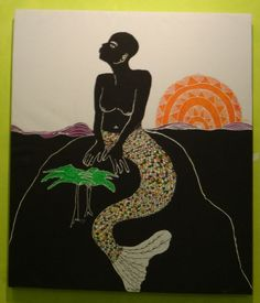 found on Pintrest, with no artist info. Mermaid Images, Mermaid Pictures, Black Mermaid, Mermaid Art, Black Angels, Sea Witch, Mermaids And Mermen, Mermaid Tattoos, Orisha