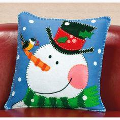 Almohada Snowman de Dimensions - Kits y patrones - Quilt y ...