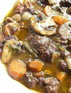 Meat Recipes, Cooking Recipes, Pot Roast, Soups And Stews, Food Porn, Food And Drink, Beef, Meals, Dishes