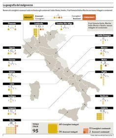mappa della corruzione in Italia