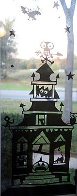 """You create window clings with Gila Privacy Control Window Film. Tutorial is on DIY Louisville. Seems a little """"involved"""" but looks very cool! Last Halloween, Halloween Tombstones, Samhain Halloween, Holidays Halloween, Halloween Crafts, Holiday Crafts, Halloween Decorations, Halloween Stuff, Halloween Ideas"""