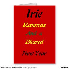 #Rasta #blessed #christmas cards