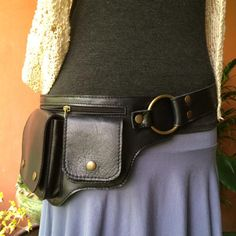 Leather Utility Belt Bag-The Hipster-Iphone Pockets,Festival Purse,Burning Man #JaiYen