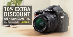 Get extra 10% off on Nikon Cameras on cart value of Rs 5000 and above at Infibeam.com   How to get additional 10% off on all Nikon Digital Cameras    1.Click here to Visit your favorite Nikon Digital Camera Store  2.Choose your Favorite one  3.Click On Buy Now.  4.Use coupon code NIKON10 to get additional 10% off 4.Pay the Amount