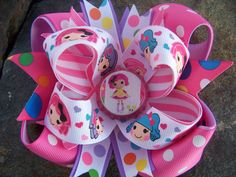 LALALOOPSY BOTTLECAP HAIRBOW WITH OPTIONS