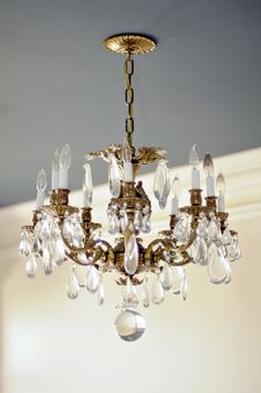 Full of character-rich details like this chandelier, the 45th Symphony Designers' Showhouse is one of the few Showhouses to undergo a complete renovation. The designers' impact will truly be transformational. The Showhouse runs April 26 - May 18, 2014. www.showhouse.org