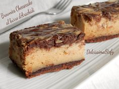 Brownie Cheesecake al burro di Arachidi