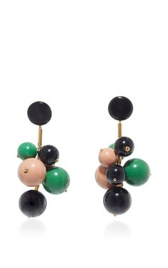 Emerald Resin Earrings by MARNI for Preorder on Moda Operandi