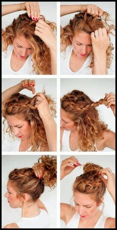 Wedding Hairstyles Elegant Make Up is part of Chic Wedding Hair Updos For Elegant Brides brazilian jerry curl hair unice - Curly Hair Braids, Curly Hair Tips, Curly Hair Braid Styles, Curly Hair Updo Tutorial, Style Curly Hair, Natural Curly Hairstyles, Curly Girl, Braided Hair Tutorials, Curly Haircuts