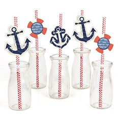 Ahoy - Nautical - Party Straw Decor with Paper Straws - S... http://www.amazon.com/dp/B011AHQV7C/ref=cm_sw_r_pi_dp_7u3sxb16KFFR8