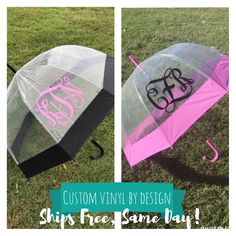Umbrella Closeout $18 ships free, same day! High quality large umbrella monogrammed with your initials or name. Perfect gift for mom, sister, aunt, friends, bridesmaids, hostesses, and so on. Limited stock, order today!!