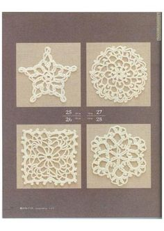Diseño floral  100 Diseños flores de crochet 10-15-20 cm.