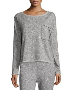 Atm+Anthony+Thomas+Melillo+Sparkle+Pullover+Sweatshirt+Gray+|+Activewear,+Pullovers,+Sweater+and+Clothing