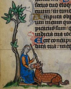 Detail from medieval manuscript, British Library Stowe MS 17 'The Maastricht Hours', f90v
