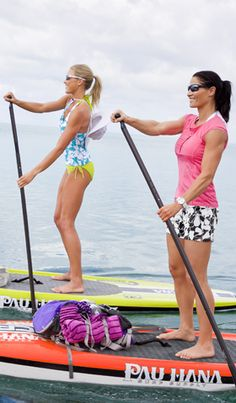 Woman on the right is what I would look like if I worked out. Trying to accept my body and my strength and build as a woman, I am not some skinny frail petite thing.  Swim: Swim Collections   Athleta