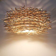 LED Pendant Light Wood / Bamboo Wood / Bamboo Novelty Others Modern Contemporary Wood Pendant Light, Cheap Pendant Lights, Pendant Lighting, Chandelier, Bamboo Light, Bamboo Lamp, Luminaire Original, Diy Garden Fountains, Driftwood Lamp