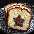 Le cake marbré de Lilo je n'ai pas trouvé mieux en matière de marbré! Le voici adapté en version Noël!...