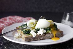 spinach and smashed egg toast | smittenkitchen.com