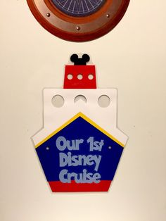 Our First Disney Cruise -Ship magnet- Disney Cruise Stateroom Door Magnet