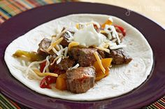 Have a backyard fiesta and make it a fajita party! These steak fajitas are easy enough to make as a weeknight meal, or fun to create a theme party and serve up all your favorite Mexican appetizers.  We celebrated Cinco De Mayo a little early this year and these fajitas were on the menu. I