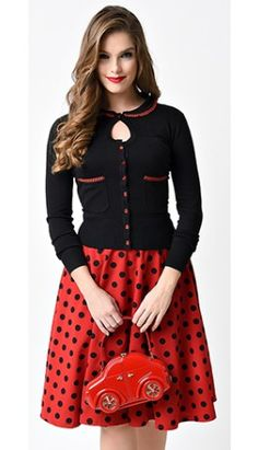 Voodoo Vixen Black Pure Poppy Button Up Cardigan