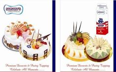 Whip toppings!!!! Narsarias presents its awesome non dairy cream and completely vegetarian for all veg cake lovers.They can now add delicious topping s to their favorite cakes and other bakery products.