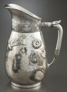Silver Holloware, American:Pitchers, A ROGERS, SMITH & COMPANY SILVER-PLATED WATER PITCHER. Rogers,Smith & Co., Meriden, Connecticut... Feeling like it is time to add a friend or two to my lonely piece...Grandma would be proud.