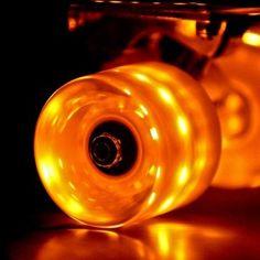 Orange Sunset Flare Self Powering LED Skateboard Wheel Lifestyle Sports 87f9cbb0db4