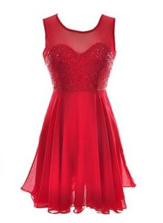 open back chiffon red hot dress