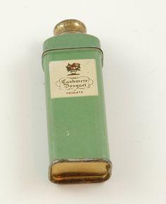 talcum powder tins | Cute Little Vintage Talcum Powder Tin, Cashmere Bouquet, Colgate ...
