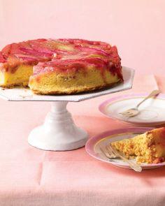 Spring Dessert Recipes // Rhubarb Upside-Down Cake Recipe