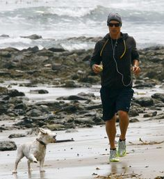 Matthew McConaughey with his pet Westie, BJ...I knew he was fabulous , but the just confirmed it!!!!
