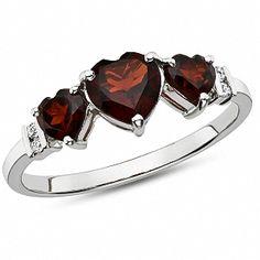 Love Garnet Hearts and Diamonds :)