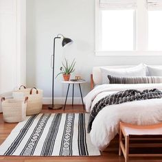 Black & Cream Throw Rug | Handwoven in Chile – The Citizenry #ThrowRugs