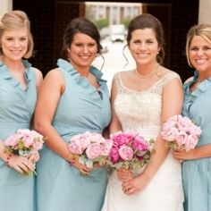 A sweet pink and blue Ole Miss wedding.