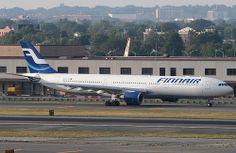 Finnair Airbus A330-300 (registered OH-LTT) at JFK, New York, USA. July, 2010