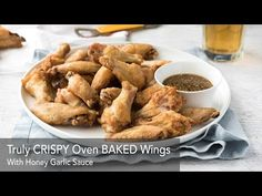 Truly Crispy Oven Baked Chicken Wings These crispy oven baked wings are EXTRA crispy and so easy to make. The skin is so shatteringly crisp, you will think these are deep fried! Crispy Baked Chicken Wings, Oven Chicken, Baked Buffalo Wings, Honey Garlic Sauce, Recipetin Eats, Chicken Wing Recipes, Appetizer Recipes, Appetizers, Cooking Recipes