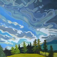 New landscape art oil cloud ideas Abstract Landscape Painting, Landscape Art, Landscape Paintings, Abstract Paintings, Painting Art, Portrait Paintings, Abstract Expressionism Art, Contemporary Paintings, Art Paintings