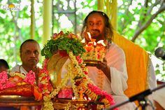 Pic: Gurudev Sri Sri Ravi Shankar at The Art of Living International Center in Rudra Pooja today morning.