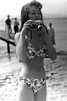 A young Brigitte Bardot, and Leica