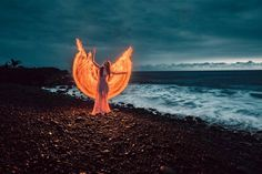 Stunning Light Painting Portrait Photography by Zach Alan #art #photography #Light Photography