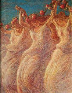 Gaetano Previati - Dance of the Rose,1903