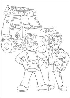 Fireman Sam Coloring Pages 43