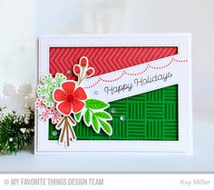 Fall Florals, Modern Blooms, Snowflake Flurry, Trim the Tree, Fall Florals Die-namics, Modern Blooms Die-namics, Snowflake Flurry Die-namics, Stitched Cover-Up Companion - Diagonal Die-namics - Kay Miller  #mftstamps